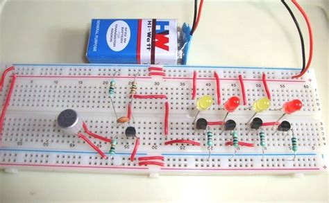 Music Operated Dancing Leds Electronic Circuits