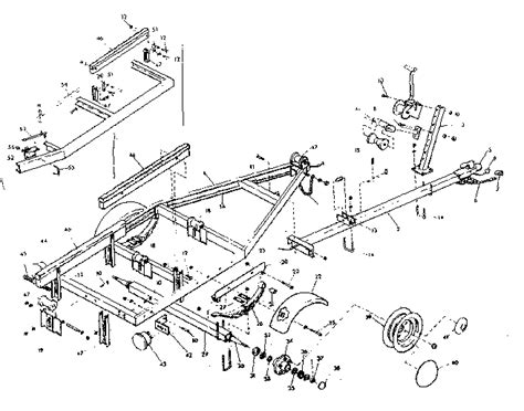 Boat Trailer Parts Names by Boat Trailer Parts Diagrams Illustration Of Wiring Diagram