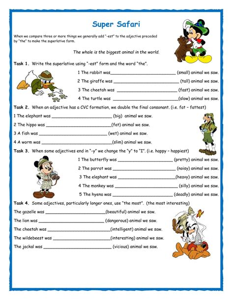 new comparatives and superlatives worksheets goodsnyc