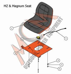 Bad Boy Mower Part  2017 Mz  U0026 Mz Magnum Seat Assembly