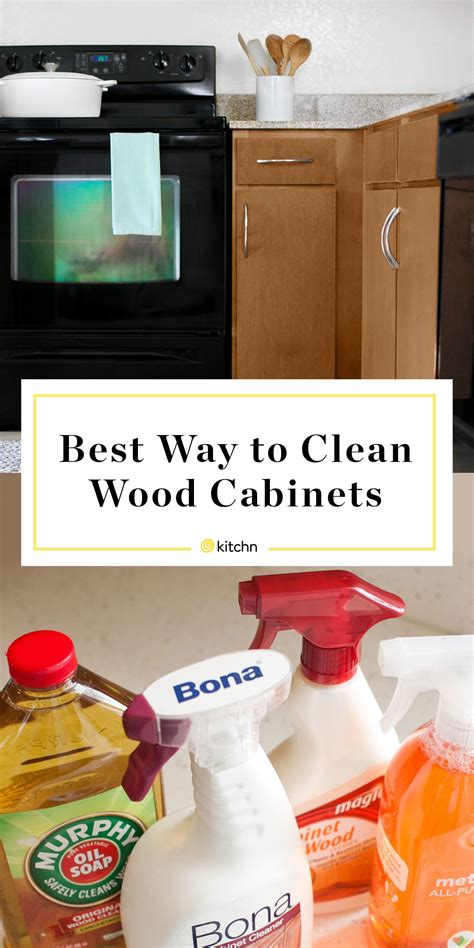 What To Use To Clean Cabinets by How To Clean Wood Cabinets Kitchn