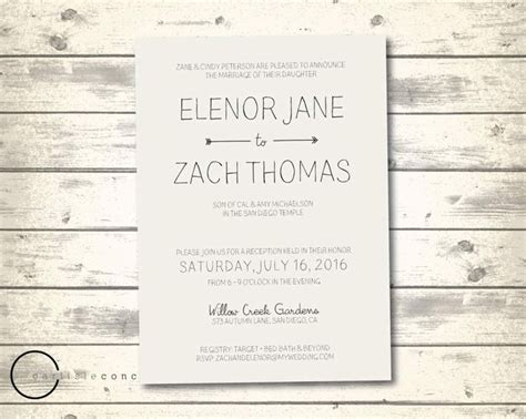 17 Best Ideas About Casual Wedding Invitation Wording On