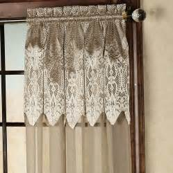 semi sheer curtains with attached valance home design ideas