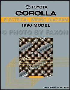1996 Toyota Corolla Wiring Diagram Manual Original