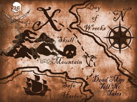 pirate treasure map templates