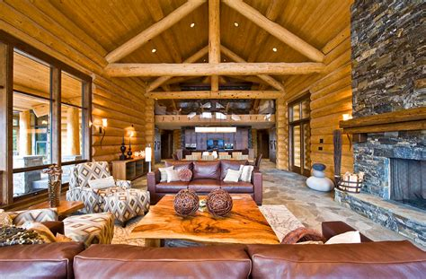 log home interiors 20 cabin living room designs ideas design trends