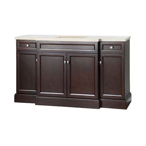 Home Depot Foremost Bathroom Vanities by Foremost International Teagen 58 Inch W Vanity Combo In