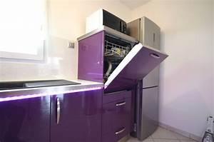 Meuble Lave Vaisselle : meuble pour lave vaisselle ~ Teatrodelosmanantiales.com Idées de Décoration