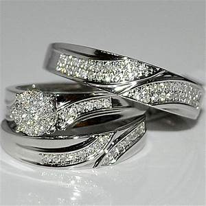 Get the best wedding sets rings unique engagement ring for Silver wedding sets rings