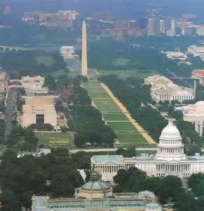 Washington DC Mall Aerial View
