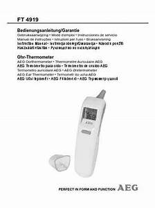 Aeg Ft 4919 Thermometer Download Manual For Free Now