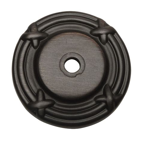 cosmas oil rubbed bronze 9468orb cabinet knob backplate