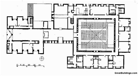 center colonial floor plan gallery of ad classics unitarian church of