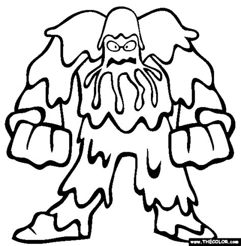Super Scary Halloween Coloring Pages by Monsters Online Coloring Pages Page 1