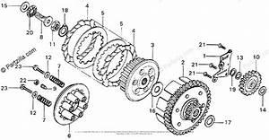 Honda Motorcycle 1976 Oem Parts Diagram For Clutch