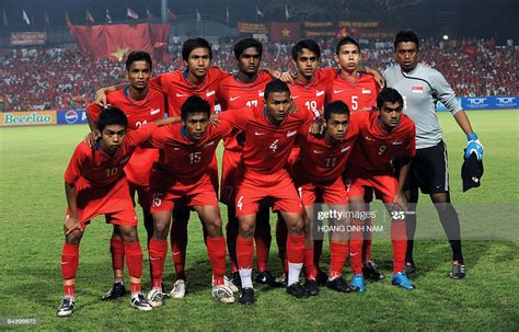 Singapore previous match was against yemen in world cup qualification, afc, round 2, gr. Members of the Singapore team pose before their semifinal football... News Photo - Getty Images