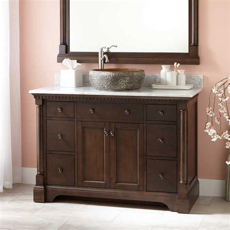bathroom vanity with vessel sink 48 quot claudia vessel sink vanity antique coffee vessel