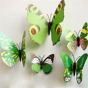12Pcs 3D Stereoscopic Butterfly Wall Sticker Living Room ...