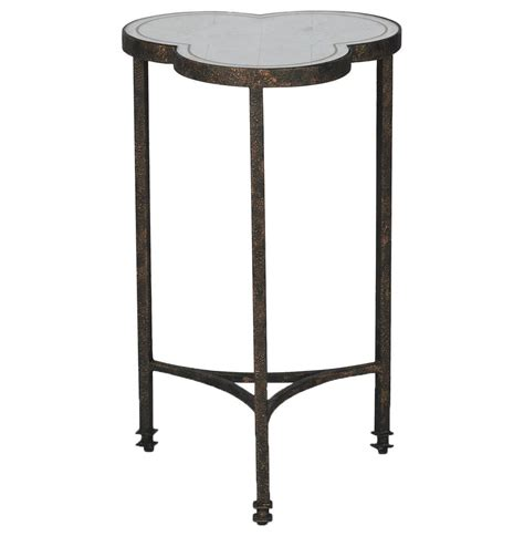 silver leaf end table walter industrial loft silver leaf mirror iron side table