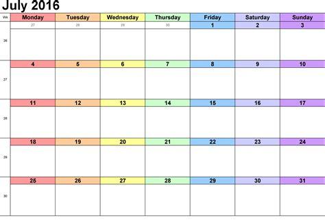 printable calendar template free printable calendar templates 2016 part 2