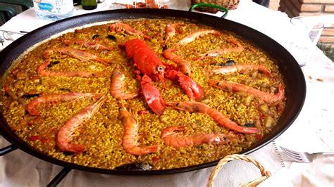 cuisine paella free images dish fish rice lobster paella
