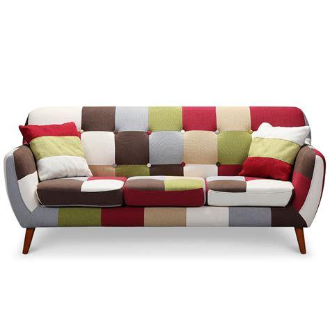 canapé 3 places fauteuil canapé scandinave 3 places multicolore canape et fauteuil