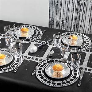 Set De Table Argenté : sets de table cin ma x10 noir argent ~ Teatrodelosmanantiales.com Idées de Décoration