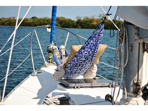 Hammock On Deck by 1977 C C 30 Sailboat For Sale In Florida