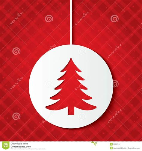 christmas ball  christmas tree cut  paper stock