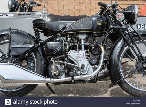 Vintage Velocette Mac 350cc Motorcycle. Classic British