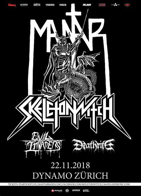 Mantar, Skeletonwitch, Evil Invaders, Deathrite ϟ Metalinside