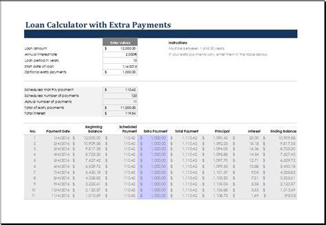 ms excel loan calculator templates excel templates