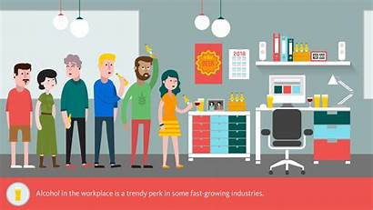 Workplace Jobs College Alcohol Today Animated Perk