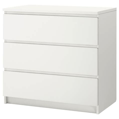 MALM Chest of 3 drawers White 80 x 78 cm IKEA