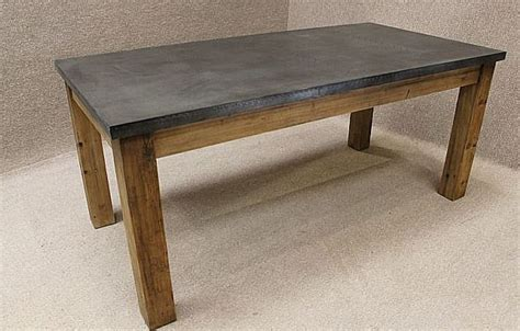 metal top table vintage zinc topped table reclaimed pine base and available in 7477