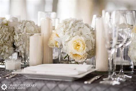 Red Wedding Centerpieces Table Decorated