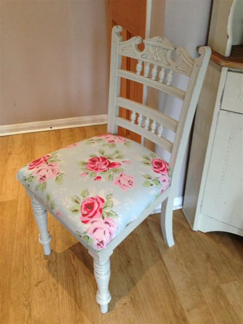 shabby chic dining room chair cushions shabby chic chair cath kidston fabric for by