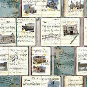 Rasch Travel Journal Diary Collage Pattern Italy Venice