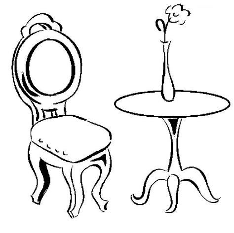 Stoel Kleurplaat by Chair Coloring Pages To And Print For Free
