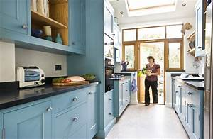 Image of: Small Space Kitchen Galley Kitchen Design In Modern Living
