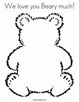 Coloring Beary Much Bear sketch template