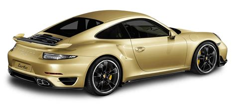 porsche transparent porsche 911 turbo aerokit gold car png image pngpix