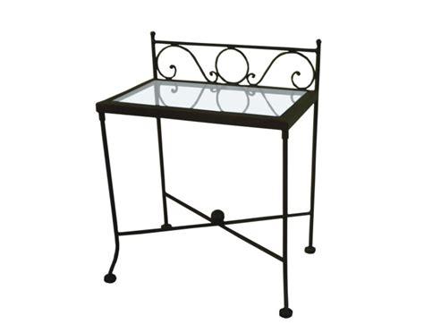 table de nuit verre lits romantiques iron