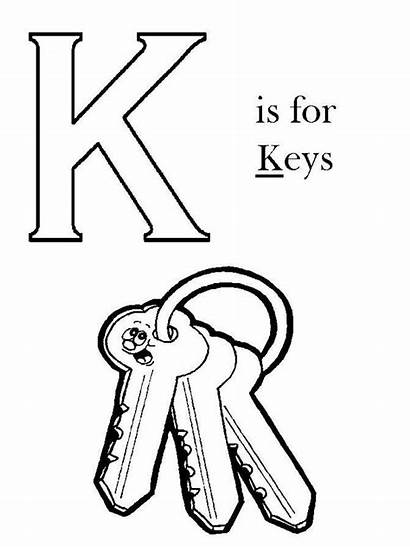 Coloring Key Pages Sheets Alphabet Keyboard Printable
