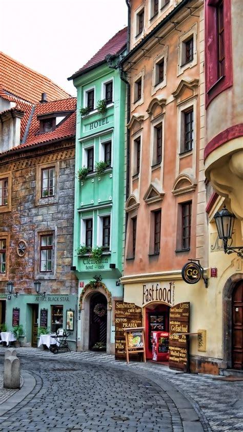Cobblestone Street Prague Czech Republic Prague