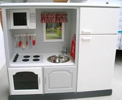tv cabinet made into play kitchen 10 diy play kitchen ideas housing a forest 9497