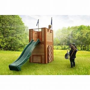 Cabane De Jardin En Bois Enfant : cabane en bois avec toboggan ~ Dailycaller-alerts.com Idées de Décoration