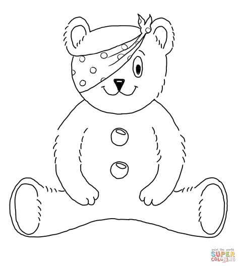 Children In Need Mascot Coloring Page Free Printable
