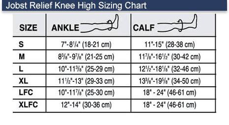 jobst relief   mmhg closed toe knee highs unisex