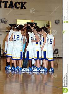 Girls Basketball Team Huddle Royalty Free Stock ...